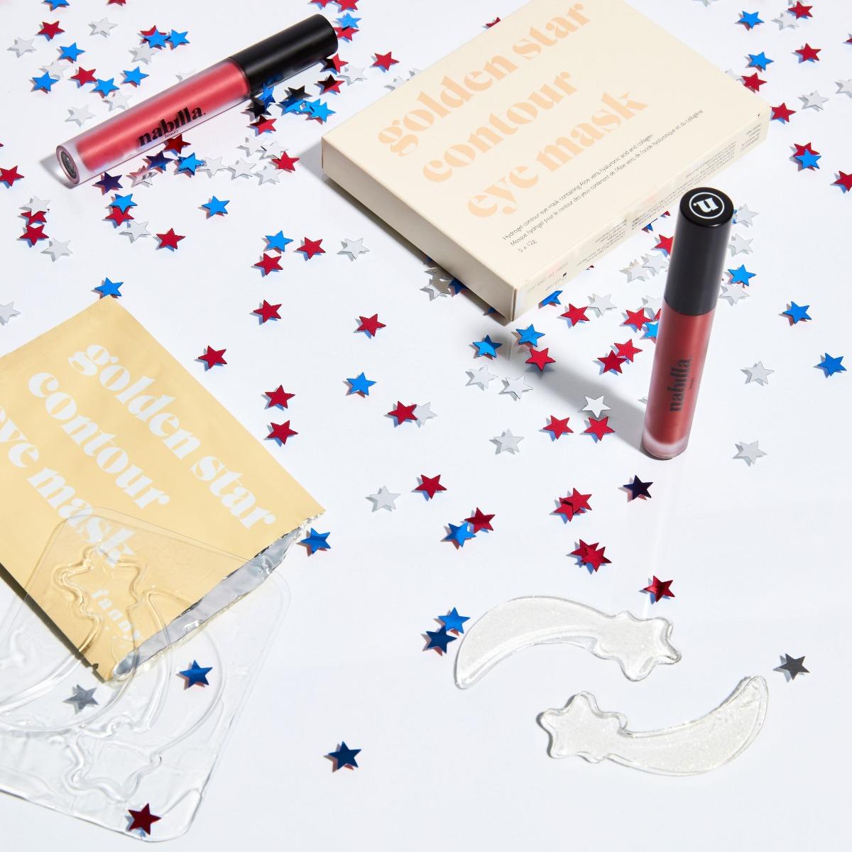 1 boîte patchs yeux + 1 lipstick au choix