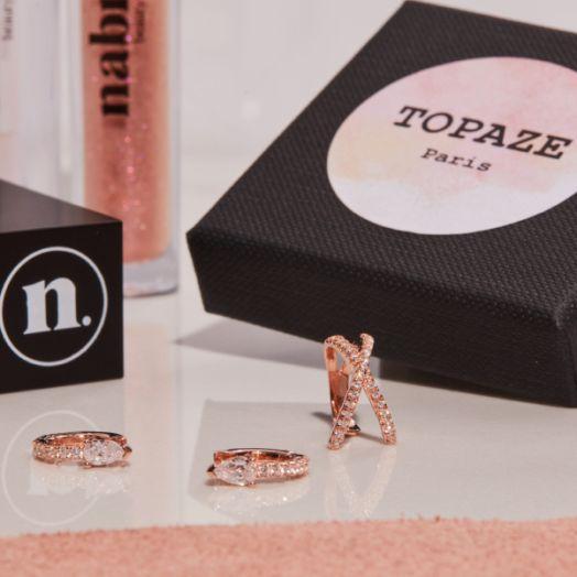 1 lipstick + 1 box bijoux d'oreille Topaze Paris