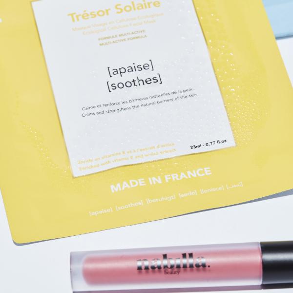 1 masque apaisant + 1 lipstick