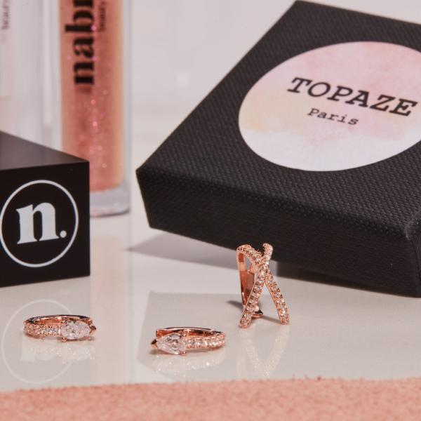 1 lipstick + 1 Topaze Paris ear jewelry box